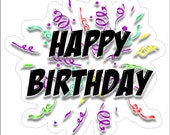 Happy Birthday Static Cling Window Decals Removable and Reusable Happy Birthday Clings Car Decorations