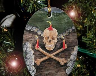 Ancestral Spirit, Skull card from The Hidden Path, Car Charm / Ornament