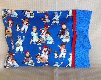 For The Love of Baseball Travel Pillowcase