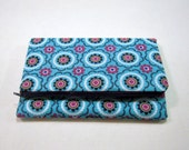 Blue Fold Over Clutch