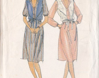 Misses Dress ~ Vest Pattern ~ Butterick 3518 Size C ~ 12 ~ 14 ~ 16 ~ Fast & Easy  ~ Cut But Complete
