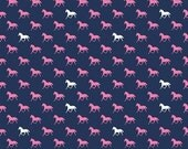 Riley Blake - Derby Horses Navy - your choice of cut
