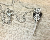 NEW ITEM!! Raven Skull necklace.