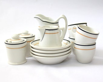 Vintage Diner Ware Breakfast Set Syracuse O.P.& Co. OPCO 12pc