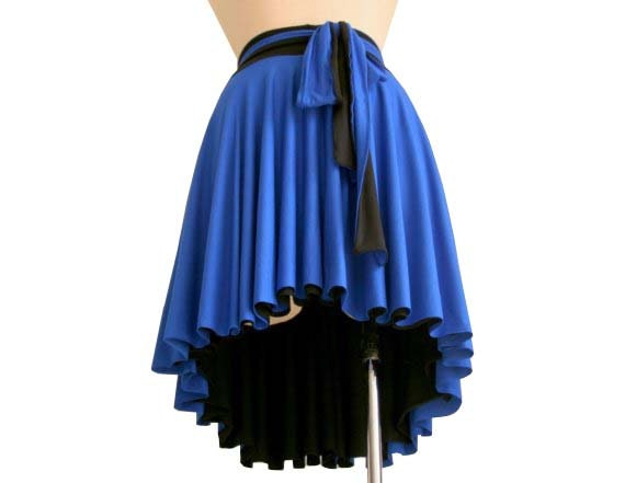 Reversible asymmetric skirt, Knee length skirt, Black skirt, made to order, A line skirt, Summer skirt, Full skirt, Plus size skirt, Skirt