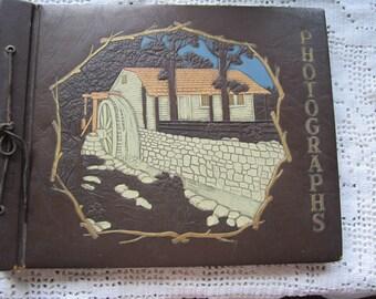 Vintage Photo Album or Scrapbook Unused Great Rustic Cover