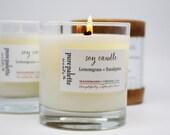 Lemongrass Eucalyptus Aromatherapy Spa Soy Candle in Gift Box