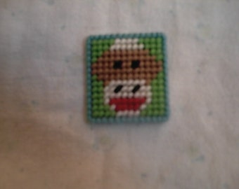 PDF Sock Monkey Magnet Plastic Canvas Pattern