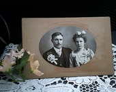 Vintage Cabinet Card, Wedding, Bride and Groom, Early 1900s