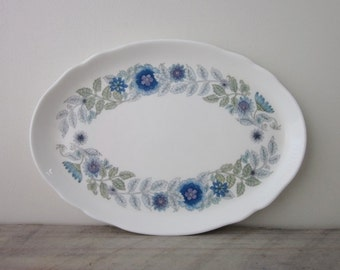 Small Oval China Platter Vanity Tray Wedgwood Clementine
