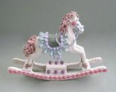 Baby Nursery Horse Decor Rocking Horse Decoration Baby Room Decor Horse Sculpture Carousel Horse Figurine Miniature Horse Figure Decorative