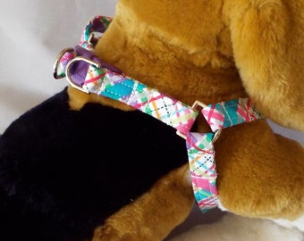 Plaid Step-in Harness for Dogs