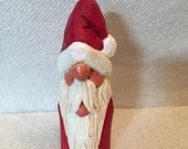 Hand Carved Santa Bust Decoration Wood Carving Art Sculpture Christmas Decoration Christmas Decor Home Decor Wood Carvers of Etsy