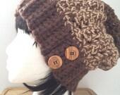 Crochet Slouchie Hat, Crochet Toque, Crochet Unisex Hat, Crochet Women's Hat, Crochet Winter Hat, Slouchy, Beanie, Made in Canada