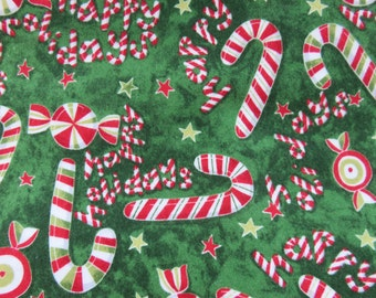 Christmas Flannel  Design Flannel  Cotton Fabric   1/2 Yard