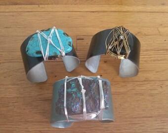 Mixed Gemstone cuffs