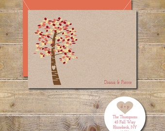 Fall Wedding, Thank You Cards, Autumn Weddings, Trees, Wedding Thank You Cards, Fall Wedding Cards, Thank You Cards