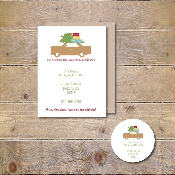 Christmas Cards Moving announcements New Home Announcement