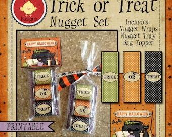 Trick or Treat Printable Nugget Set