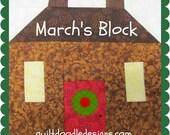 Tis The Season Quilt Doodle Designs March's Block 2016