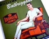 1920s Frameable Men's Advertising - Men's Underwear Box Cover - Balbriggan Underwear - Williams Brothers 1920s Gentleman Illustration