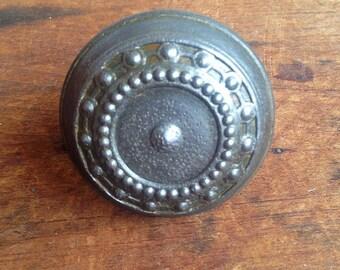 Vintage Cast iron/steel Art Deco door knob E2194