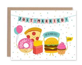 No More Wedding Diet - Congratulations Wedding Card