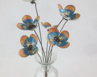 Carousel Horses Bouquet Forever Blooming Tin Flowers