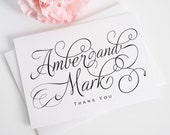 Charming Script Wedding Thank You Card - Color Customizable