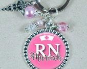 Personalized Nurse Keychain, Nurse Practitioner, NICU, RN, Nurse Gift, Custom Key Chain