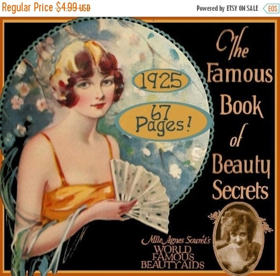 The FAMOUS Book of Beauty Secrets Art Deco by eVINTAGEpatterns