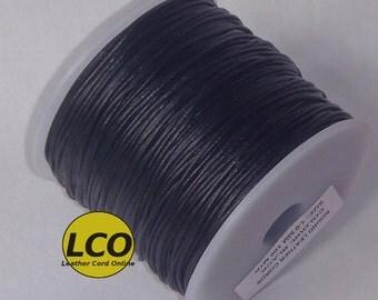 1 mm Leather Cord Black 100 meters spool