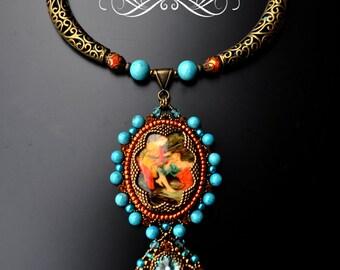 Vintage Renaissance Cameo Necklace