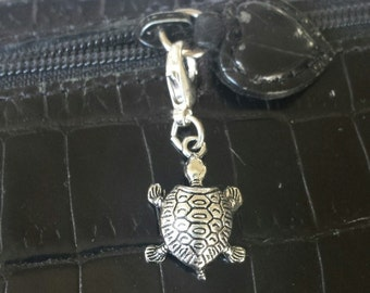 Turtle zipper pull 3d , purse pull ,charm, bracelet