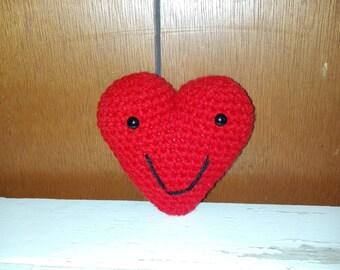Crochet stuffed Happy Heart