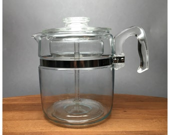 Pyrex Flameware 9 Cup Coffee Percolator  - model 7759-C - Complete