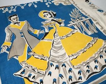 Southern Belle & Gentleman Linen Tea Towel