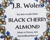 Soy Wax Candle Melts Scented With Black Cherry/Almond Fragrance Oil