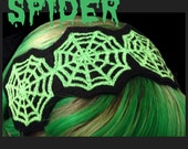 Spooky Spider Web Embroidered Headband Webs Halloween Creepy Cute You Pick the color