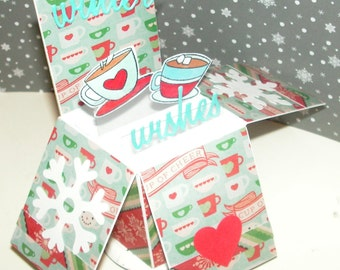 Christmas Card Winter Wishes Box Card