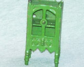 REDUCED Antique Kilgore Doll House Cabinet, Green, Cast Iron