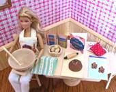 Barbie Baking Set 12 Items 1:6 Scale