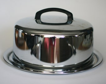 vintage chrome cake carrier by everedy