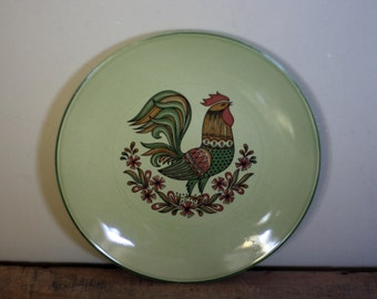vintage taylor smith and taylor salad plate bonnie green pattern