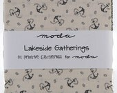 "Lakeside Gatherings Print by Primitive Gatherings for Moda - 100% Cotton - 42 / 5"" Square Charm Pack"