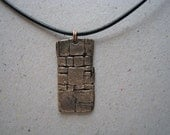 Archaeology Inspired Wall Oxidized Bronze Pendant