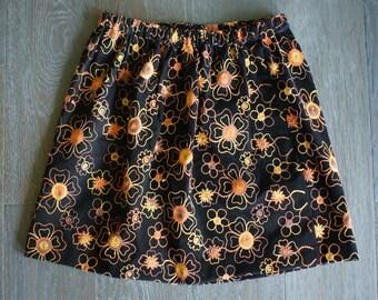 Vintage 70s GROOVY Boho Flower Short Skirt (m-l)