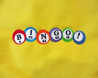 Embroidered Nylon Bingo Tote Bag