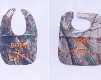 Born To Hunt - Small OR Large Baby Bib