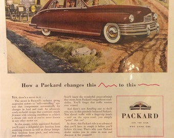 Circa 1948 Packard ad. 13x10. Great for framing.